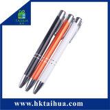 Promoção da haste de alumínio da empresa de publicidade de caneta esferográfica caneta personalizada de logotipo