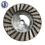 Abrasivo 4'' de 100mm M14 Aluminyum Cuerpo de hierro y piedra de la rueda de la Copa de granito