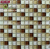 さまざまなCrystal YellowかSwimming Pool BathroomのためのRedまたはブラウンGlass Mosaic Tile