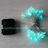 De elektrische Heldere Waterdichte Lichten van het Koord van de Draad van Kerstmis Sier