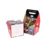 La stampa di colore 6 bottiglie incarta il contenitore di imballaggio del vino con la maniglia