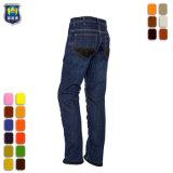 De naar maat gemaakte Jeans van Demin van het Werk van Mensen Magere Geschikte