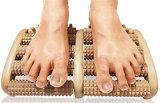 Doble rodillo masajeador de pies de madera mejor dispositivo de la terapia de aliviar el dolor