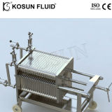 Laboratoire en acier inoxydable Bière Vin de la plaque d'huile et filtre à membrane de trame appuyez sur