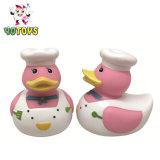 Capretti di gomma dell'anatra del cuoco del cuoco unico che bagnano i giocattoli di galleggiamento