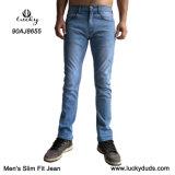 Moda Jeans lavados homens calça jeans azul para homens