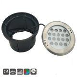 indicatore luminoso subacqueo montato di superficie del raggruppamento di 18*3W LED