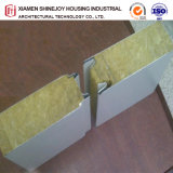Composite en aluminium panneau sandwich en acier avec isolation laine de roche pour l'entrepôt & Plantes