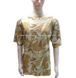 Exército de algodão de camuflagem T camiseta com manga curta