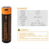 Ione del litio/batteria ricaricabili del polimero per gli indicatori luminosi del LED: Strumento elettrico (18650 2600mAh)