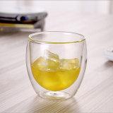 Paroi double petite cuvette en verre de Whisky La bière claire de la Verrerie