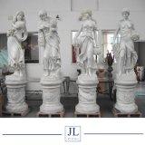 庭、景色のための彫刻/彫像を切り分ける自然な石造りの西ヨーロッパ様式の白いまたは組合せカラー大理石の芸術図