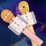 Condensador de mão sem fio microfone portátil Microfone de Karaoke