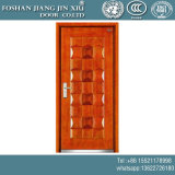 Portello esterno di singola del ferro dell'acciaio obbligazione di plastica di rossoreare con la pittura rossa dell'ebano