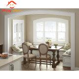 Rejilla de diseño residencial de la ventana de aluminio blanco/Cristal fijo del marco de aluminio