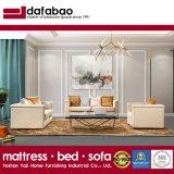 金の釘のトリムが付いている居間の家具のArmrestのための現代贅沢なイタリアのソファー