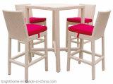 Сад для использования вне помещений плетеной бар стул и таблицы