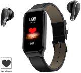 Smart bracelete de relógio de pulso & Wireless Bluetooth Headset fone de ouvido 2-em-1 Sports Bracelete Inteligente Magnético invisível auriculares de carregamento