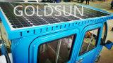 Triciclo elétrico solar da carga com caixa de Wango, roda três