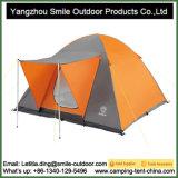 4 Pessoas material retardante de fogo azul royal tenda de Dupla Camada