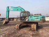 Excavador usado original Sk260-8 de la correa eslabonada de Kobelco