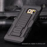 Caisse d'armure de PC + de silicone de couverture de téléphone portable de nouveau produit pour la caisse d'armure de téléphone portable de la galaxie S7 de Samsung