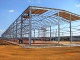 ISO 증명서로 흘려지는 Prefabricated 가벼운 강철 창고 작업장