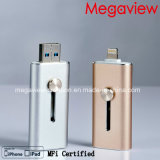 OTG 조명과 iPhone와 iPad 사용 Mfi를 위한 USB 섬광은 드라이브 증명했다