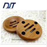 Runde Badezimmer-Zubehör-fertigen Bambusseifen-Kasten mit kundenspezifisch an