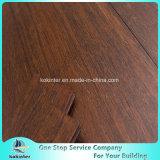 Superqualitätspreiswertester Strang gesponnener Bambusbodenbelag-Innengebrauch in der dunkler Brown-Farbe