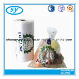 Sac plat en plastique clair de nourriture de HDPE sur le roulis avec la qualité Pringting
