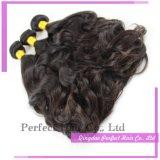 Trajes de cabelo europeus em estoque, extensões de cabelo humano
