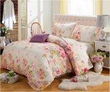 Baumwolle gedrucktes Bettwäsche-Set der Bettwäsche-gesetztes Hauptgewebe4pcs