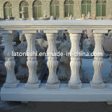 Railing Handrail를 가진 자연적인 Stone Red Granite Balustrade/Baluster