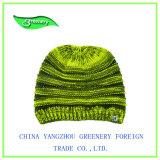 Sombrero amarillo y gris promocional del Knit del invierno de la mezcla