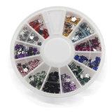 Nagel-Kunst-Dekoration-Acryldiamant der Mischungs-Farben-3D formt Rhinestones