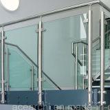 Railing балкона SUS304/SUS316 стеклянный с Balusters нержавеющей стали