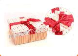 Мешок популярного роскошного цвета бумажный с коробкой подарка тесемки