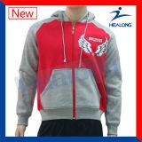 Hoodies людей логоса вышивки Sportswear конструкции способа Healong