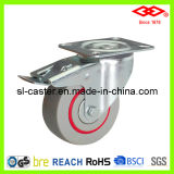 "5 "" Brake Noise Reduced Casters (P102-51D125X36S)를 가진 회전대 Plate"