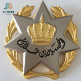 Moulage en alliage de zinc de 48mm Custom Gold Crown Logo insigne de police de métal avec Certification SGS