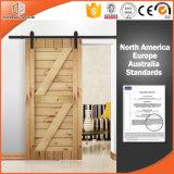 Porte intérieure solide en bois de chêne de type de l'Amérique