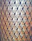 ステンレス鋼の拡大された金属の格子