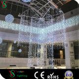 Decoração interna da alameda de compra do Natal da luz da cortina do diodo emissor de luz