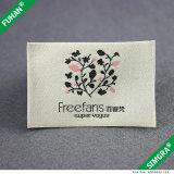 Roupas personalizadas Rótula de tecido em forma de cetim