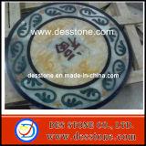 Mosaico de granito mármol medallones de patrón de chorro de agua (DES-MDL06)