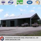 Cloche légère préfabriquée d'entrepôt de bâti en acier