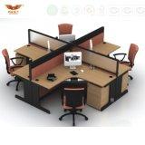 Fsc 숲은 현대 주문을 받아서 만들어진 칸막이벽 사무실 카운터 테이블 디자인 칸막이실을 증명했다