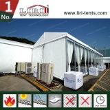 de Tent van 20X35m voor de OpenluchtTentoonstelling van de Lucht toont