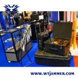 Fahrzeug-passen wasserdichter justierbarer Leistungs-Telefon-Hemmer G/M CDMA 3G 4G WiFi2.4G 5.8g GPS Frequenz-Signal-Hemmer an